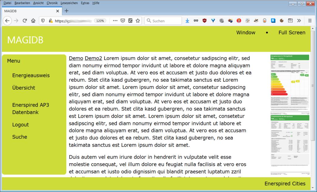 Prototyp Webanwendung